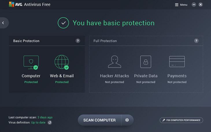 interfaccia avg free